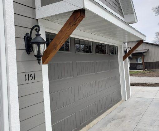 new gable over garage door