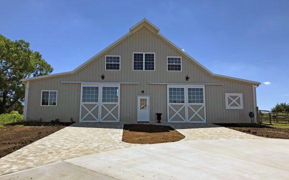 luxury post frame tan barn
